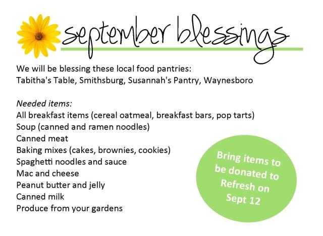 Sept blessings 2017